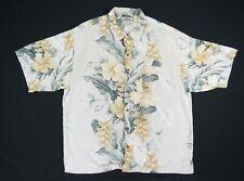 Tommy Bahama Mens Flower Hibiscus Silk Loop Collar Hawaiian Button Up Shirt XL