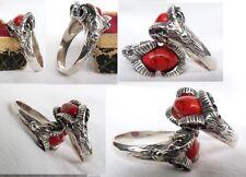 Silber 925 Baphomet Ring Teufel Lucifer Ziegenkopf Bock Satan Luzifer