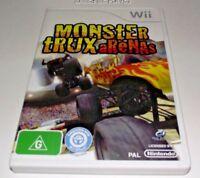 Monster Trux Arenas Nintendo Wii PAL *No Manual* Wii U Compatible Monster Trucks