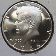 PROOF 1968-S Kennedy Half Dollar 40% SILVER Gorgeous 53 Year Old American Coin!