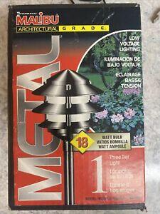 NEW Malibu CL191 18w Halogen Outdoor 3Tier Premium Metal Garden Light Black