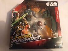 """Figura De Star Wars Boba Fett Deluxe 6"""" Figura De Acción Juguete Héroe Mashers Nueva En Caja"""