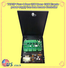 TCP/IP  4 Door 20K Users 100K Events power supply iron box Access Controller/US