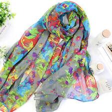 Womens Chiffon Voile Soft Scarf Wrap Shawl Pashmina Sarong Stole Silk Scarves