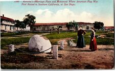 New listing Ramona's Marriage Place, Monument Where U.S. Flag Raised Ca Vintage Postcard P08