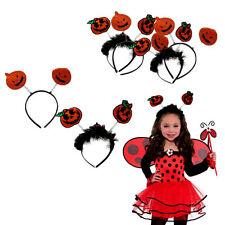 Dazzling Toys 4 Pieces Halloween Pumpkin Design Headbands Halloween Costume