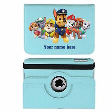 Paw Patrol Name Personalised iPad 360 Rotating Case Cover Birthday Present