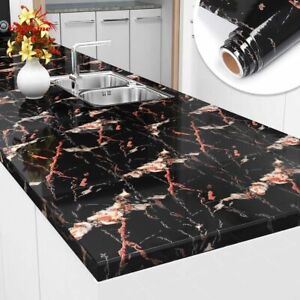Wallpaper Marble Wall Stickers Contact Kitchen Oil-proof Self Adhesive Decors