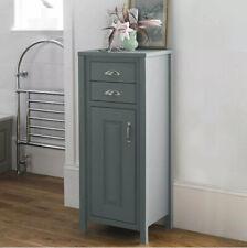 New - Chiltern Grey Traditional Bathroom Storage Tallboy Storage Cupboard Unit