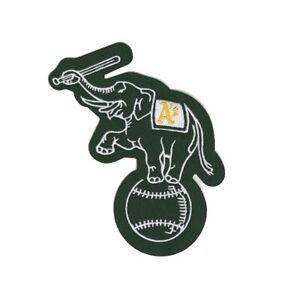 Oakland Athletics Home/Road/Alternate Green Elephant Sleeve Jersey Team Patch