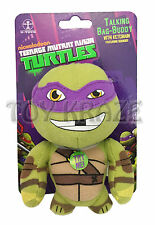 "TEENAGE MUTANT NINJA TURTLES PLUSH TALKING KEY CHAIN! DONATELLO PURPLE 4"" NEW"