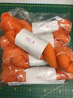 5 x 100g Hanks Sirdar Sublime Isla DK Wool/Yarn For Knitting/Crochet Papaya