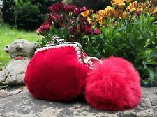 Handmade Women Velvet Coin Purse Kiss Lock Wallet /metal clasp purse/gift