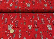 Nostalgie-Weihnacht Weihnachtsstoff natur Baumwolle 50 cm Weihnachten nähen