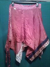 ~tav~ Recycled Silk Wrap Skirt ~ Gypsy Peasant Asymmetrical Boho Handkerchief 41