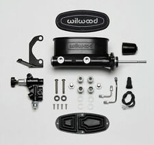"Wilwood 261-13626-BK Black Tandem Master Cylinder 15/16"" Bore/Bracket-Valve Kit"