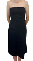 Events Womens Black Floral Strapless Lined Soft Party Cocktail Dress Size 10