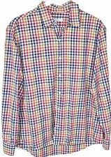 Raleigh Denim Workshop Mens Shirt XL Button Front Long Sleeve Multicolor Plaid