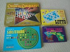 Chinese Cheques/Lotto (bingo)/Solitaire/Kiddy Snap. 4 x Spear's Games 1970-80s