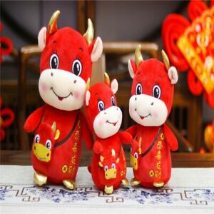 2021 Year of the Ox Chinese New Year Gift Cartoon Cow Plush Toy Cattle Year Doll