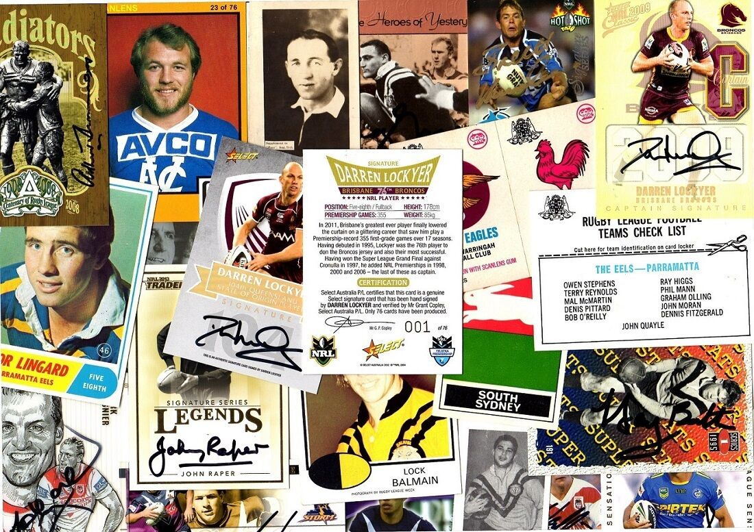 Rugby League trading cards