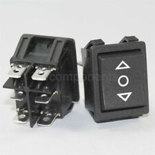 Light Country R5 Momentary 3 Position Rocker Switch Black DPDT 20 A 250 V