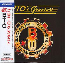 BTO BACHMAN TURNER OVERDRIVE - BTO'S GREATEST ( MINI LP AUDIO CD with OBI )
