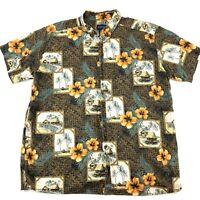 HARBOR BAY Mens Size 2XL Hawaiian Shirt