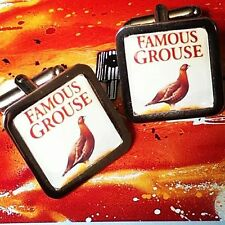 ! Unico! Famous Grouse Gemelos Cromo whisky Whisky Regalo Novedad Diseñador Fab!