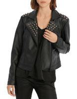 Wayne Cooper Ladies Stud Detail PU Jacket sizes 6 8 10 12 14 16 18 Colour Black