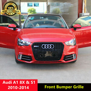 A1 Front Grill Mesh Grille for Audi A1 8X Sline S1 2010-2014 RS1 Style Black