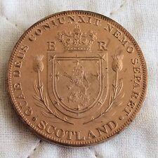 More details for edward viii scotland 1937 copper proof piedfort pattern crown - mintage 18