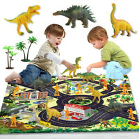 Dinosaur Toys Figure / Activity Play Mat, Educational Realistic Dinosaur Playset