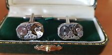 from 1920s-30s movement Swiss Wristwatch Cufflinks made