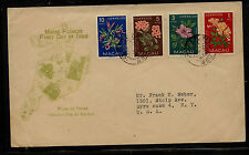 Macau   flower  stamps  on  cachet  cover         MS0826