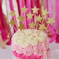 Brillo Dorado Elefante Chica Chico Cake Topper Magdalena Pick Fiesta Baby Shower 20 un