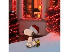"""32"""" 2D Pre-lit Christmas/Holiday Cute Lighted Snoopy Outdoor Yard Decoration"""