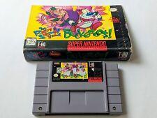 Ren & Stimpy Show Buckeroos + Box for Super Nintendo SNES *TESTED & AUTHENTIC*