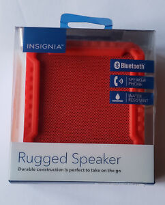 NEW Insignia Rugged Portable Bluetooth Speaker NS-CSPBTF1-R - RED in Retail Pkg