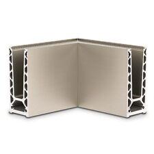 90° CORNER  TL6020 12 to 21.5mm Framless Glass Balustrade System, Base Channel