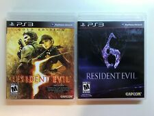 PS3 Resident Evil Lot - Resident Evil 5 Gold Edition and Resident Evil 6