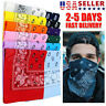 3-12 pcs Bandana Scarves Paisley Head Face Mask Multiuse Wrap Scarf 100% Cotton