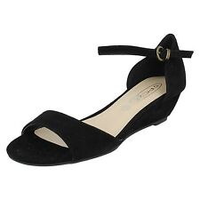 Sandali e scarpe cinturini alla caviglia per il mare da donna camoscio tacco basso ( 1,3-3,8 cm )