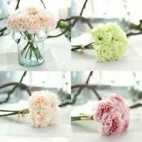 Fake Flowers Artificial Wedding Decor Bridal Peony Home Hydrangea Silk Bouquet