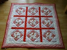 HANDMADE QUILTED BABY QUILT COT / PRAM BABY TIGGER AND PIGLET FABRIC