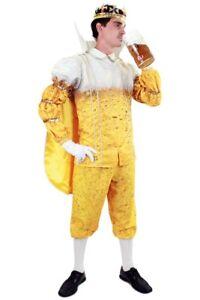 ★ Prinz Garde Pils Bier Kostüm, Unisex 40-62 Gelbe Oktoberkostüm Sakko König