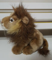 ZOOS VICTORIA LION PLUSH TOY! SOFT TOY ABOUT 19CM SEATED SOUVENIR KIDS TOY!