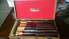 Vintage  Set 6 Steak Knives in Original Case