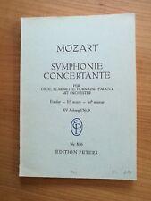Noten. Mozart Symphonie Concertante Es-Dur KV Anh.I/9. Taschenpartitur.