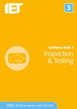 Guidance Note 3 Inspection & Testing Electrical Regulations Blue 2018
